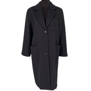 MaxMara Virgin Wool Angora Striped Long Coat 12